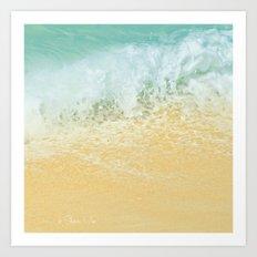 Kite Beach Ocean Splash Art Print