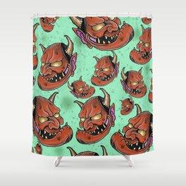 Grumpy Hannyas by Kevin Thrun Shower Curtain