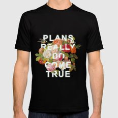 Plans Really Do Come True Black Mens Fitted Tee MEDIUM