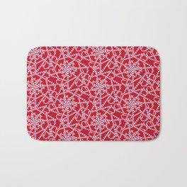 Candy cane flower pattern 2a Bath Mat