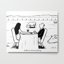 Table to Farm Dining Metal Print