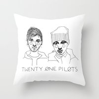 cactei Throw Pillows featuring Josh/Tyler by ☿ cactei ☿