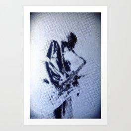 Sax Music Poster Art Print
