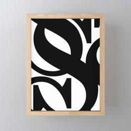 Hidden Letters. Baskerville S Framed Mini Art Print