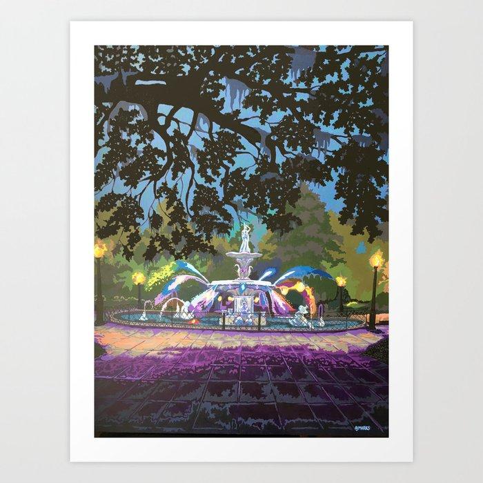 Forsyth Park Fountain Art Print By Ajsarts Society6