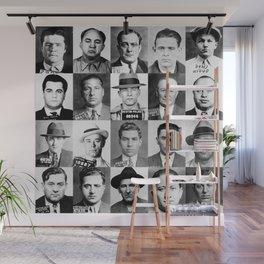 Mobster Mugshots Wall Mural