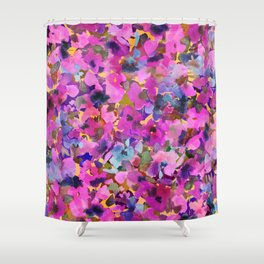 Pink Rainbow Garden Shower Curtain