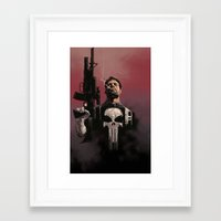 punisher Framed Art Prints featuring Punisher by Dave Seguin