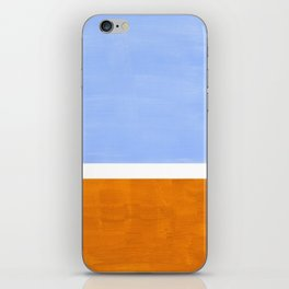 Pastel Royal Blue Yellow ochre Mid Century Modern Abstract Minimalist Rothko Color Field Squares iPhone Skin
