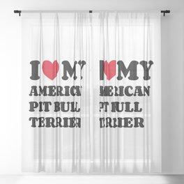 American Pit Bull Terrier Sheer Curtain