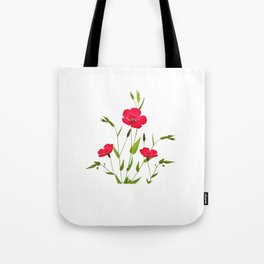 wild red flax Tote Bag
