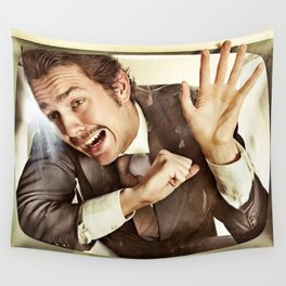 Man trapped in TV Wall Tapestry