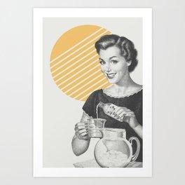 When Life Hands You Lemon Juice Concentrate -- Make Lemonade. Art Print
