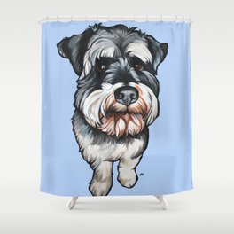 Barney the Miniature Schnauzer Shower Curtain