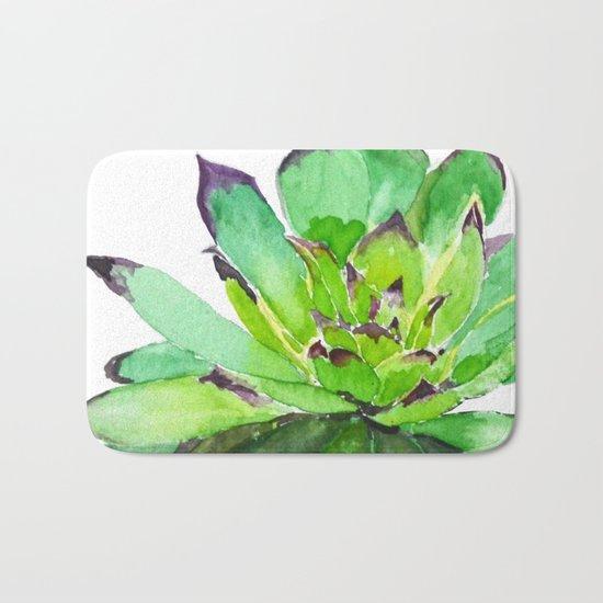 green succulent 2 Bath Mat