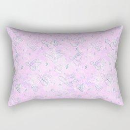 Flying Phallus Print Rectangular Pillow