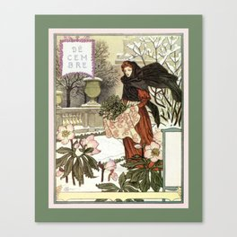 The pretty woman gardener Canvas Print