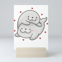 Lovey Dovey Sea Lion Mini Art Print