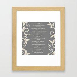 Gray Swirl Do It Anyway Framed Art Print