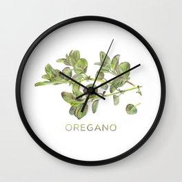 Watercolor Oregano Art Print Wall Clock