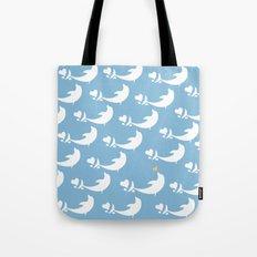 Joyful Dolphin Dancing in the Ocean Tote Bag