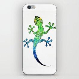 colored mandala gecko iPhone Skin