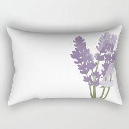 Watercolor Lavender Rectangular Pillow
