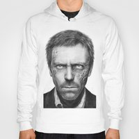 house md Hoodies featuring House MD by Olechka