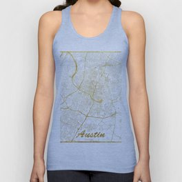 Austin Map Gold Unisex Tank Top