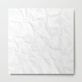 Crumpled paper Metal Print