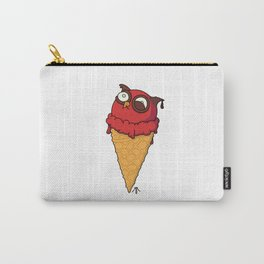 Owl cream cone with strawberry flavour Carry-All Pouch