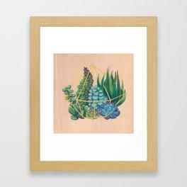 Geometric Terrarium 1 Acrylic on Wood Painting Framed Art Print