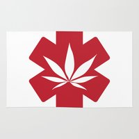medical Area & Throw Rugs featuring Medical Marijuana by WeedPornDaily