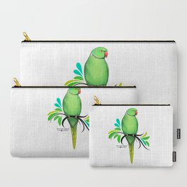 Green Indian Ringneck Parrot Carry-All Pouch