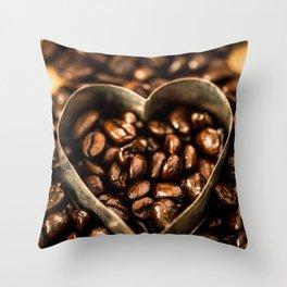 I Heart Coffee Throw Pillow