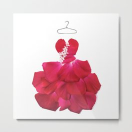 RED ROSE GOWN Metal Print