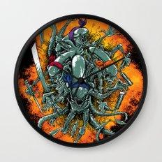 Bay's Alien turtles! Wall Clock