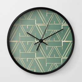Deco Gold & Turquoise Wall Clock