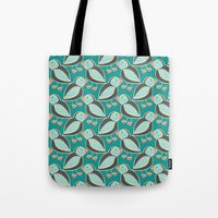 puffin Tote Bags featuring puffin by blacksparrow