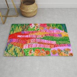 Flowers and Bricks Rug