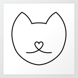 LOVE KITTY Art Print