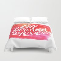 all you need is love Duvet Covers featuring All you need is Love by melazerg