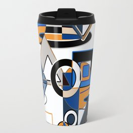 Abstract pattern with bold geometric shapes . Travel Mug