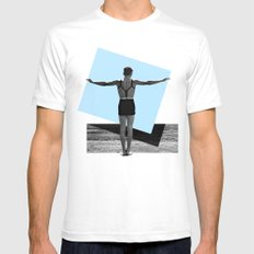 Place. Digital collage art, black and white photo, Graphic Art Mens Fitted Tee White SMALL