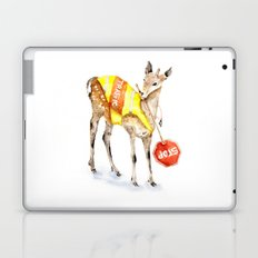 Traffic Controller Deer in High Visibility Vest Laptop & iPad Skin
