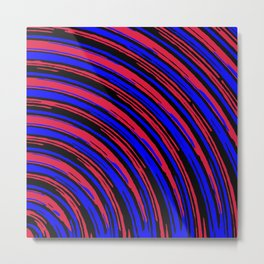 graffiti line drawing abstract pattern in red blue and black Metal Print