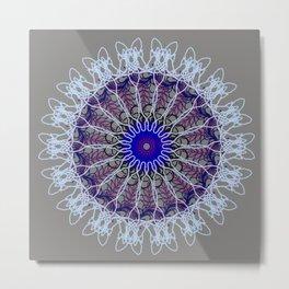 Mandala #102, Taupe Metal Print