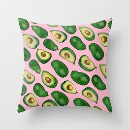 pink avacado Throw Pillow