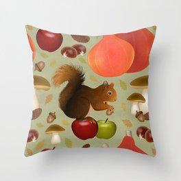 Hello Autumn! Throw Pillow
