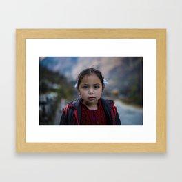 Girl in Gushaini Framed Art Print